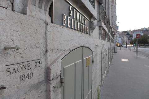 Crecida del Saone de 1840, Place Bellecour